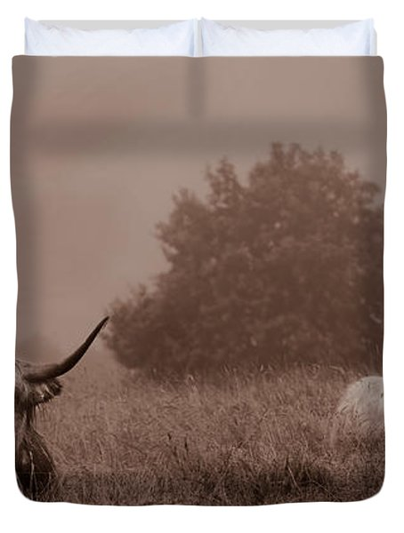 Resting Beasts Duvet Cover by Linsey Williams
