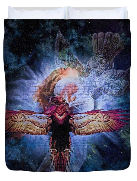 Resurrection Duvet Cover by Lianne Schneider