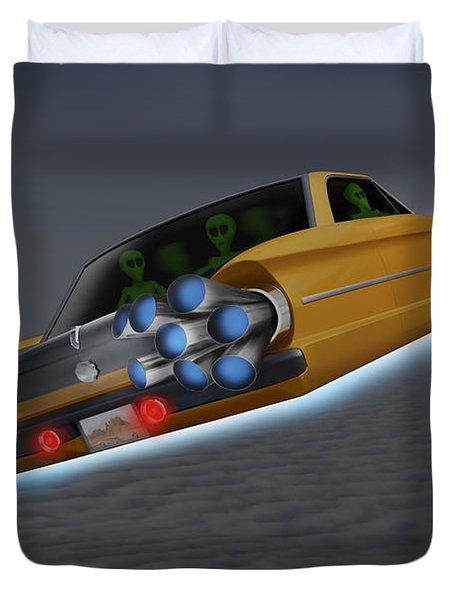 Retro Flying Object 1 Duvet Cover by Mike McGlothlen