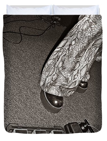 Retro Night Duvet Cover by Chris Berry