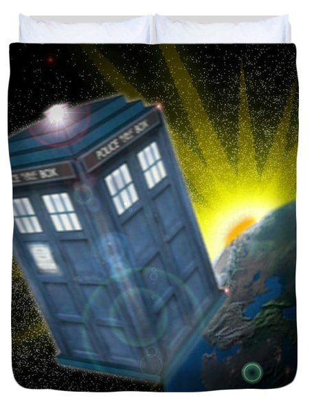 Return Of The Time Lord. Duvet Cover by Ian Garrett