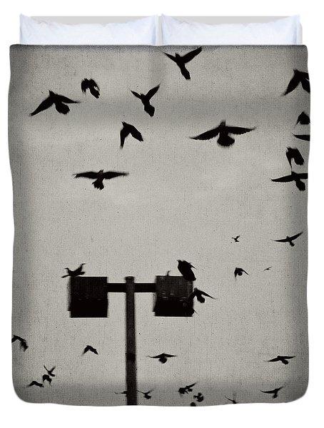 Revenge Of The Birds Duvet Cover by Trish Mistric
