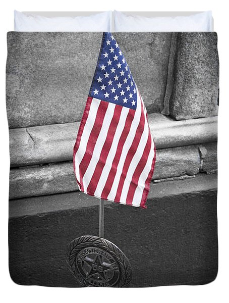 Revolutionary War Veteran Marker Duvet Cover by Teresa Mucha