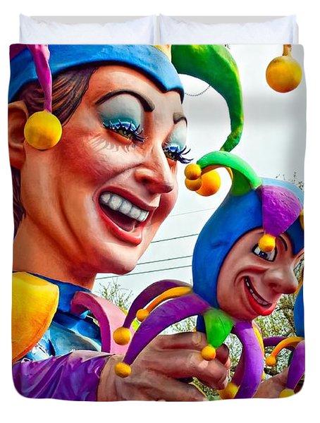 Rex Mardi Gras Parade Xi Duvet Cover by Steve Harrington