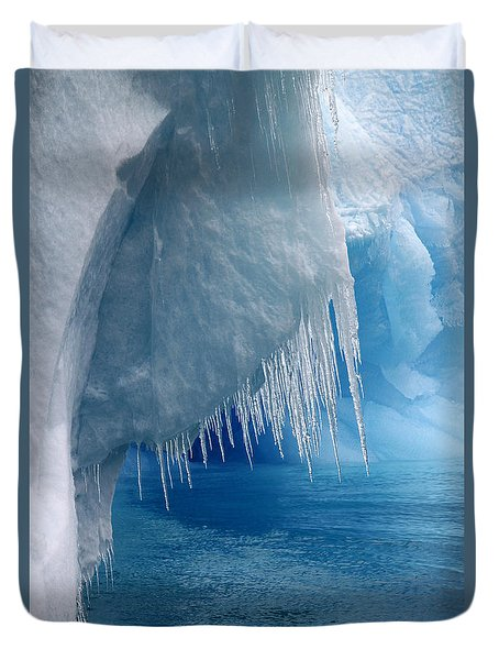 Rhapsody In Blue Duvet Cover by Ginny Barklow