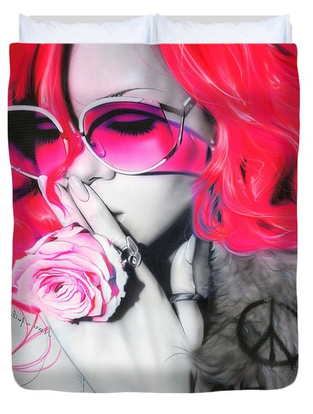 'rhianna' Duvet Cover by Christian Chapman Art