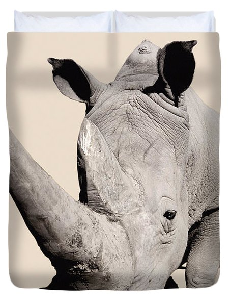 Rhinocerosafrica Duvet Cover by Thomas Kitchin & Victoria Hurst