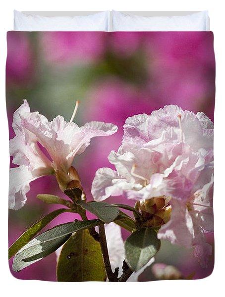 Rhododendron Duvet Cover by Steven Ralser