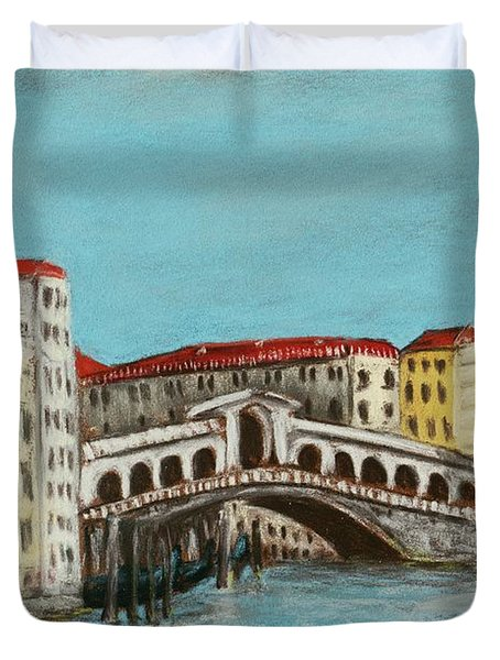 Rialto Bridge Duvet Cover by Anastasiya Malakhova