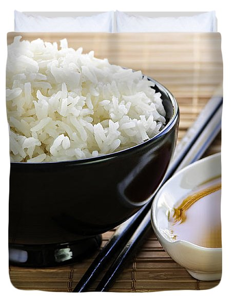 Rice meal Duvet Cover by Elena Elisseeva
