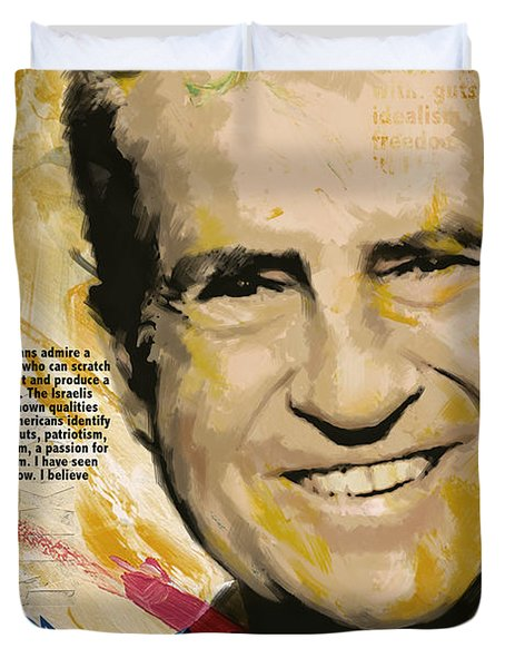 Richard Nixon Duvet Cover by Corporate Art Task Force