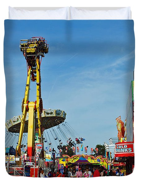 Rides Rides Rides Duvet Cover by Skip Willits
