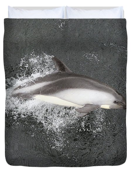 Riding The Bow Duvet Cover by Tony Beck