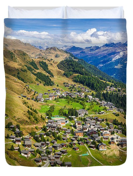 Riederalp Valais Swiss Alps Switzerland Europe Duvet Cover by Matthias Hauser