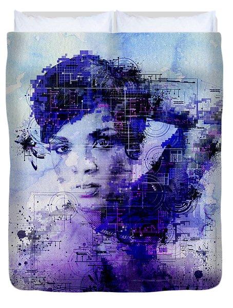 Rihanna 2 Duvet Cover by Bekim Art