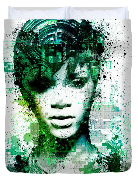 Rihanna 5 Duvet Cover by Bekim Art