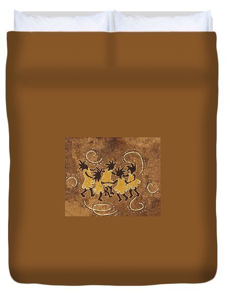Ring-around-the Rosie Duvet Cover by Katherine Young-Beck