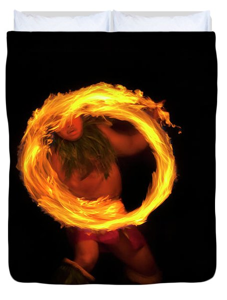 Ring of Fire Duvet Cover by Mike  Dawson