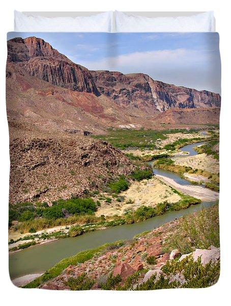 Rio Grande Duvet Cover by Christine Till