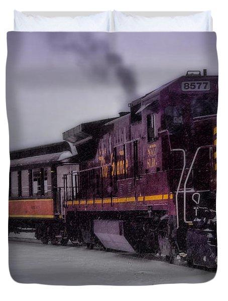 Rio Grande Scenic Railroad Duvet Cover by Ellen Heaverlo