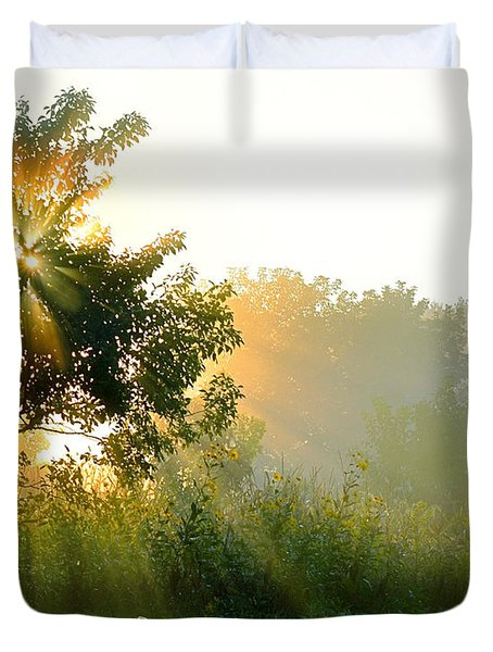 Rise And Shine Duvet Cover by Sue Stefanowicz