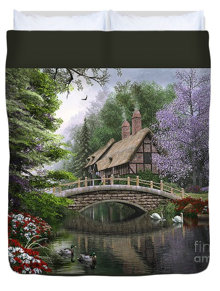 River Cottage Duvet Cover by Dominic Davison