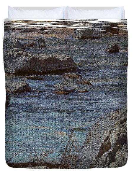River Flows Duvet Cover by Bobbee Rickard