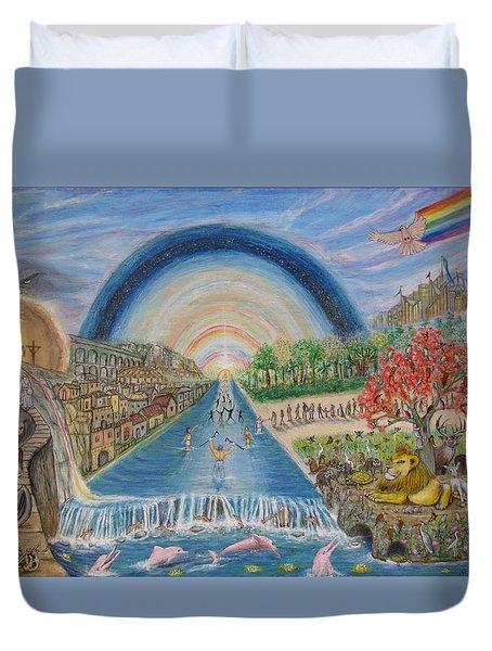 River Of Life Duvet Cover by Neal David Reilly