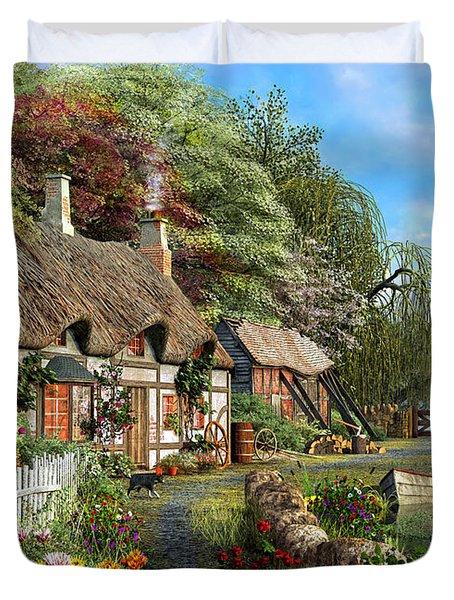 Riverside Home In Bloom Duvet Cover by Dominic Davison