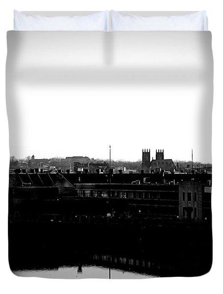 Riverside Industrialism Duvet Cover by James Aiken