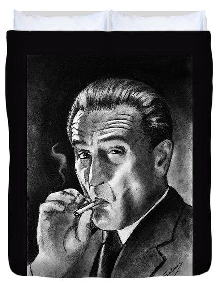 Robert De Niro Duvet Cover by Salman Ravish