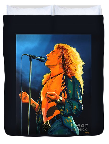 Robert Plant Duvet Cover by Paul Meijering