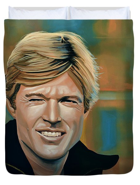 Robert Redford Duvet Cover by Paul  Meijering