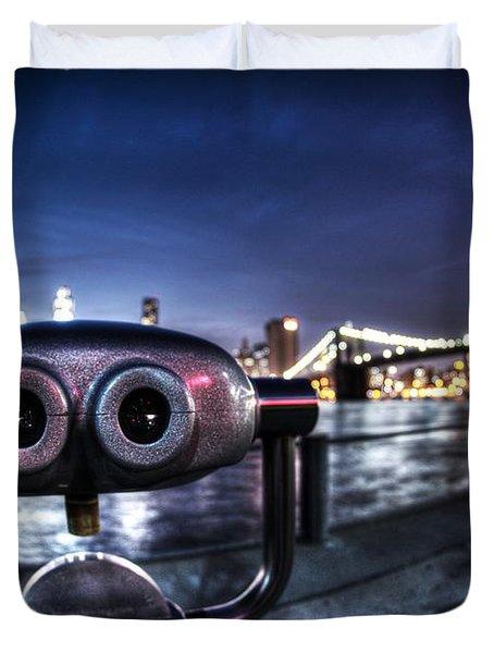 Robot Views Duvet Cover by Andrew Paranavitana