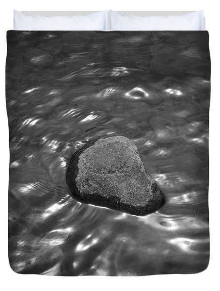 Rock And Sun Reflections Duvet Cover by Dave Gordon