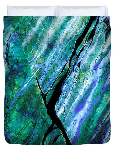 Rock Art 16 in Teal n Violet Duvet Cover by Bill Caldwell -        ABeautifulSky Photography