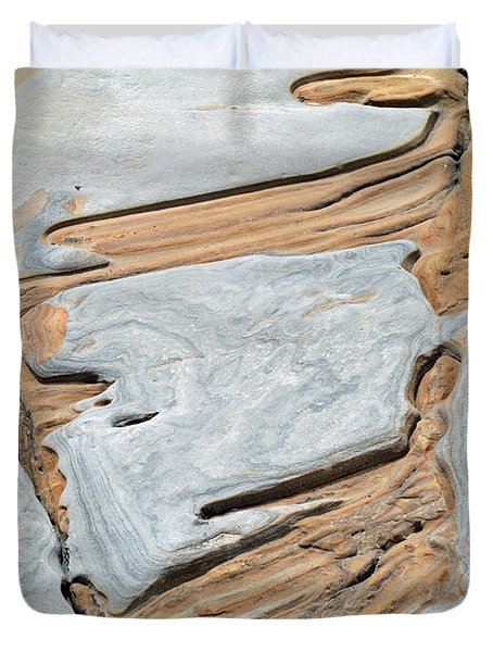 Rock Art in California's Point Lobos State Natural Reserve Duvet Cover by Bruce Gourley
