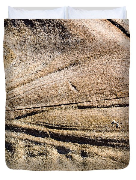 Rock patterns Duvet Cover by Steven Ralser