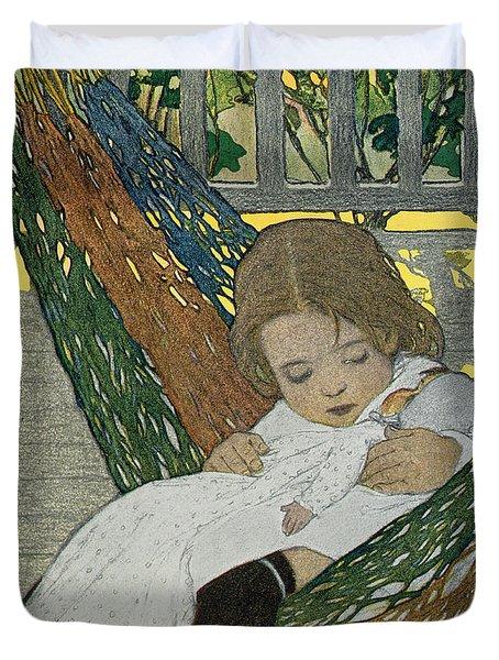 Rocking Baby Doll To Sleep Duvet Cover by Jessie Willcox Smith