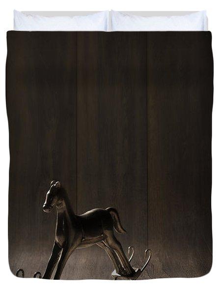 Rocking Horse Duvet Cover by Amanda Elwell