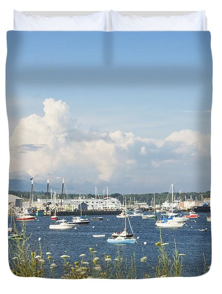 Rockland Harbor on the Coast of Maine Duvet Cover by Keith Webber Jr