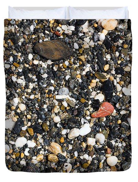 Rocks On The Beach Duvet Cover by Steven Ralser
