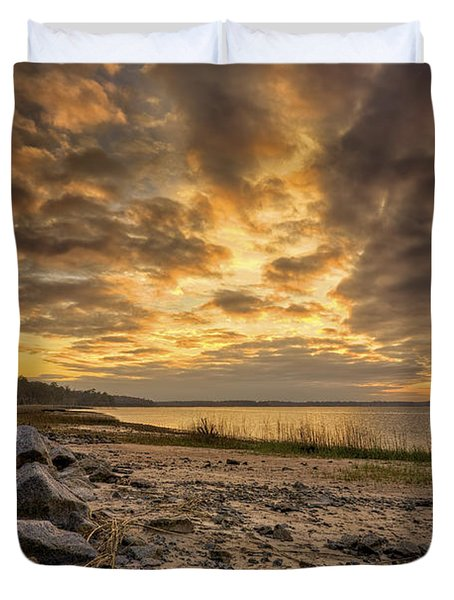 Rocky Beach Duvet Cover by Phill Doherty