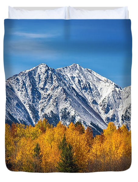 Rocky Mountain Autumn High Duvet Cover by James BO  Insogna