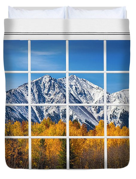 Rocky Mountain Autumn High White Picture Window Duvet Cover by James BO  Insogna