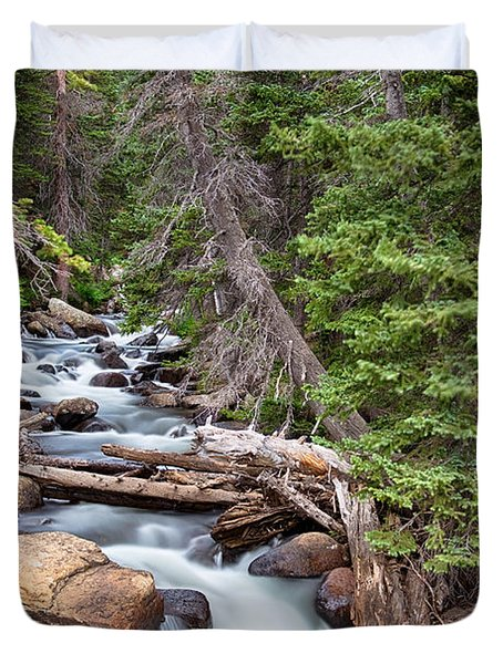 Rocky Mountain Stream Duvet Cover by James BO  Insogna