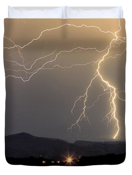Rocky Mountain Thunderstorm  Duvet Cover by James BO  Insogna