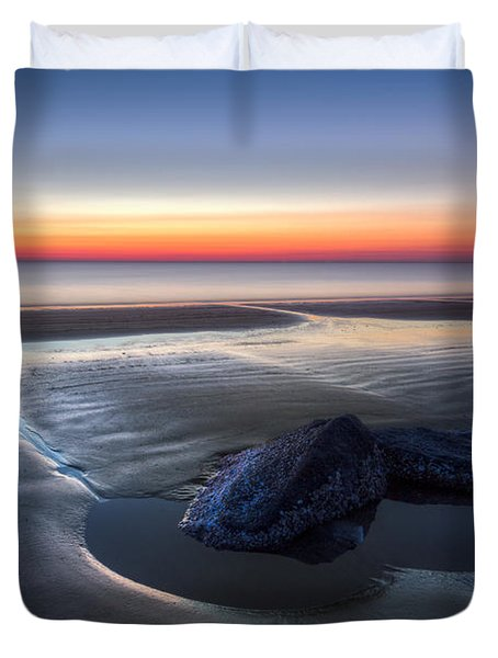 Rocky Pools Duvet Cover by Debra and Dave Vanderlaan