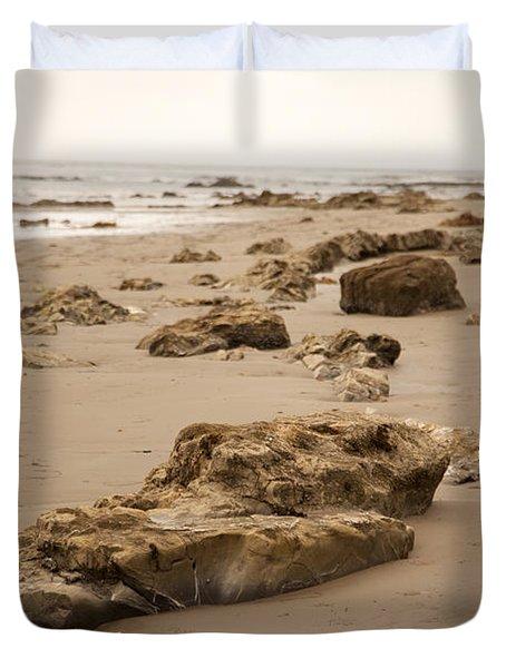Rocky Shore 2 Duvet Cover by Amanda Barcon