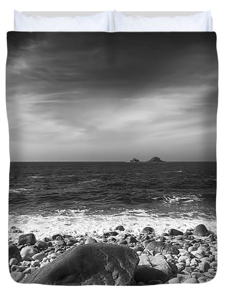 Rocky Shore Duvet Cover by Chris Thaxter